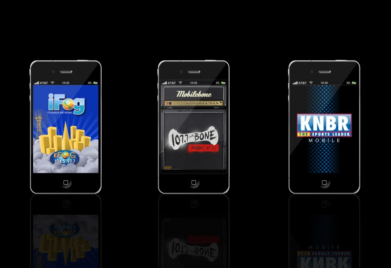 KFOG, 107.7 The Bone, KNBR mobile apps